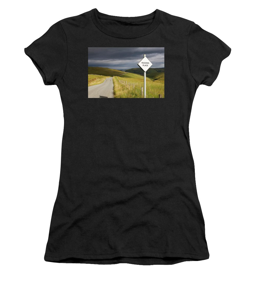 Skye Women's T-Shirt featuring the photograph Passing Place by Porter Glendinning