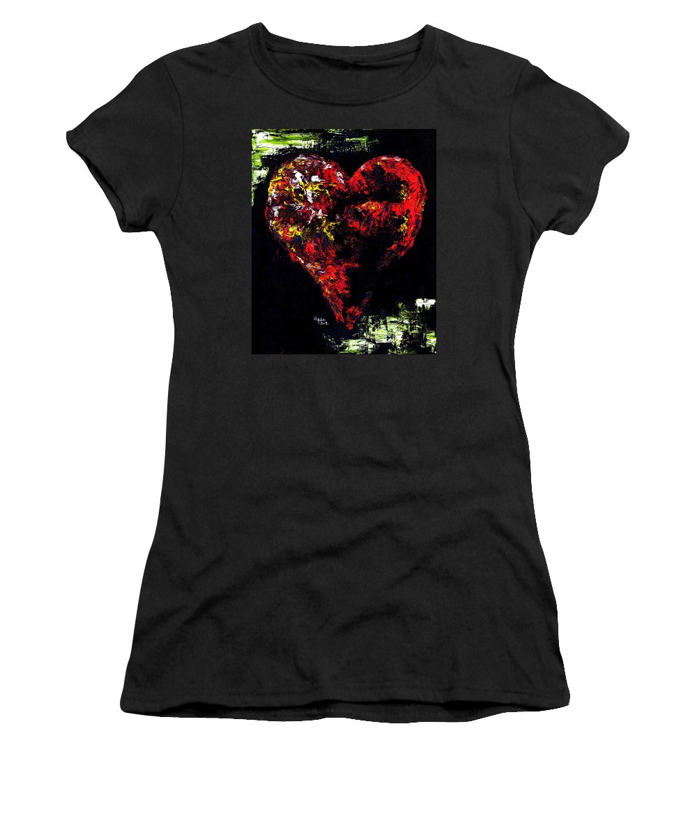 Heart Women's T-Shirt (Athletic Fit) featuring the painting Passion by Hiroko Sakai