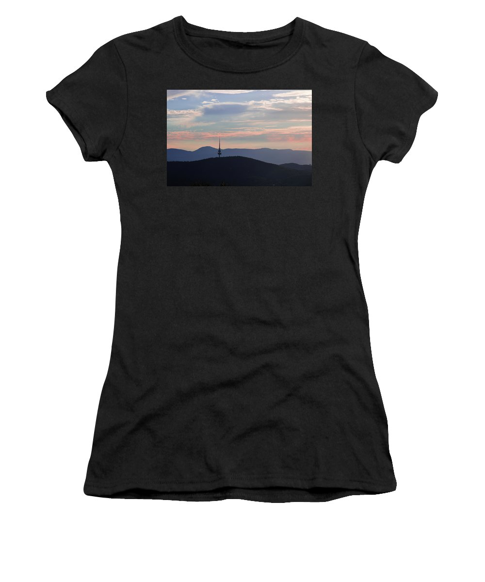 Sky Women's T-Shirt (Athletic Fit) featuring the photograph Pastel Skies by Cheryl Page