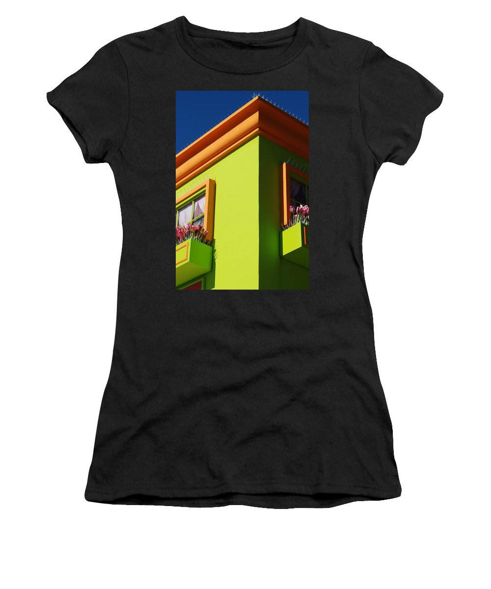 Sky Women's T-Shirt (Athletic Fit) featuring the photograph Pastle Corners by Rob Hans
