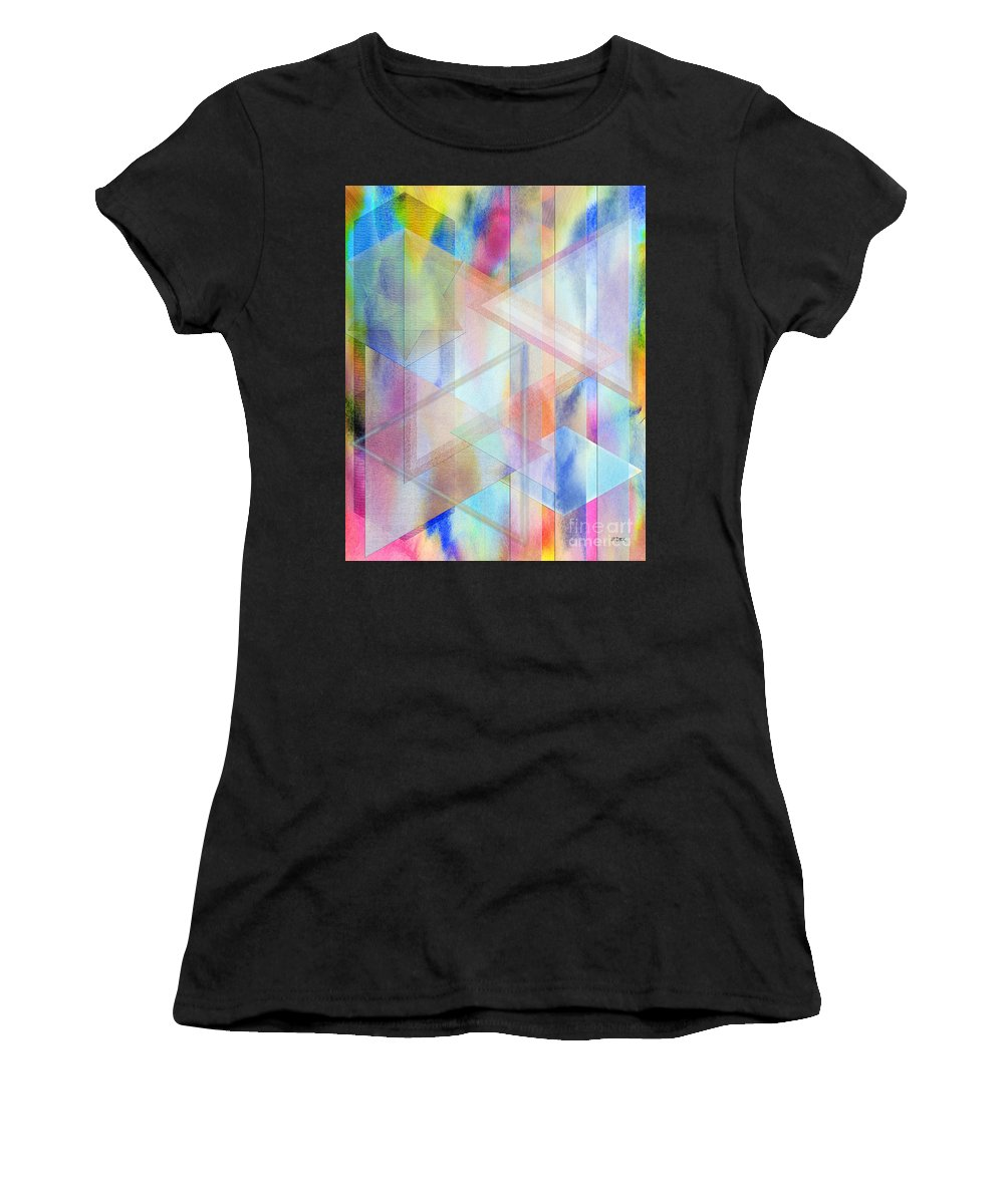 Pastoral Moment Women's T-Shirt (Athletic Fit) featuring the digital art Pastoral Moment by John Beck