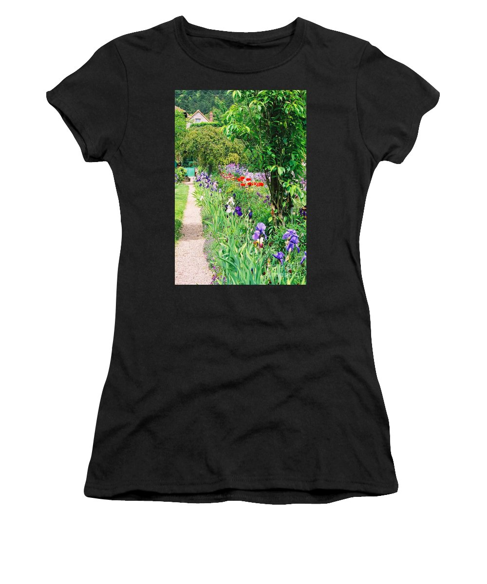 Claude Monet Women's T-Shirt (Athletic Fit) featuring the photograph Path To Monet's House by Nadine Rippelmeyer