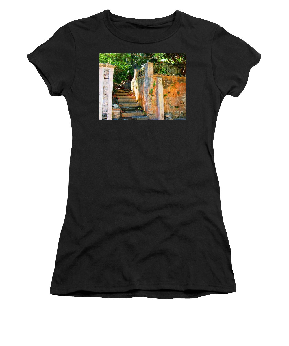 Steps Women's T-Shirt featuring the photograph Pathway by Debbi Granruth