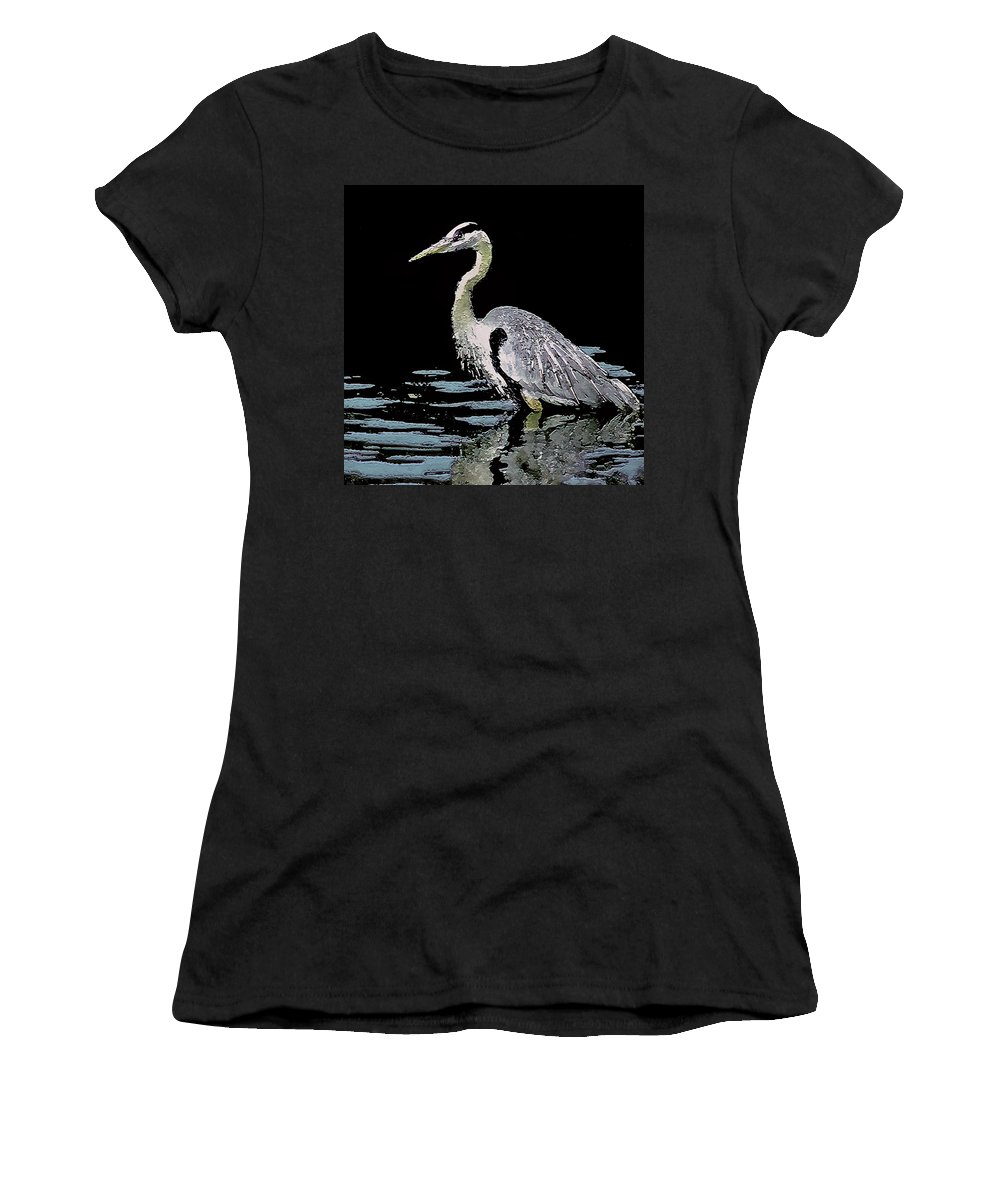 Patience Women's T-Shirt featuring the digital art Patience On Little Lake by Claudia O'Brien