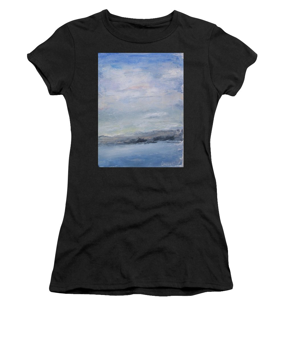 Sky Women's T-Shirt (Athletic Fit) featuring the painting Peace by Patricia Caldwell