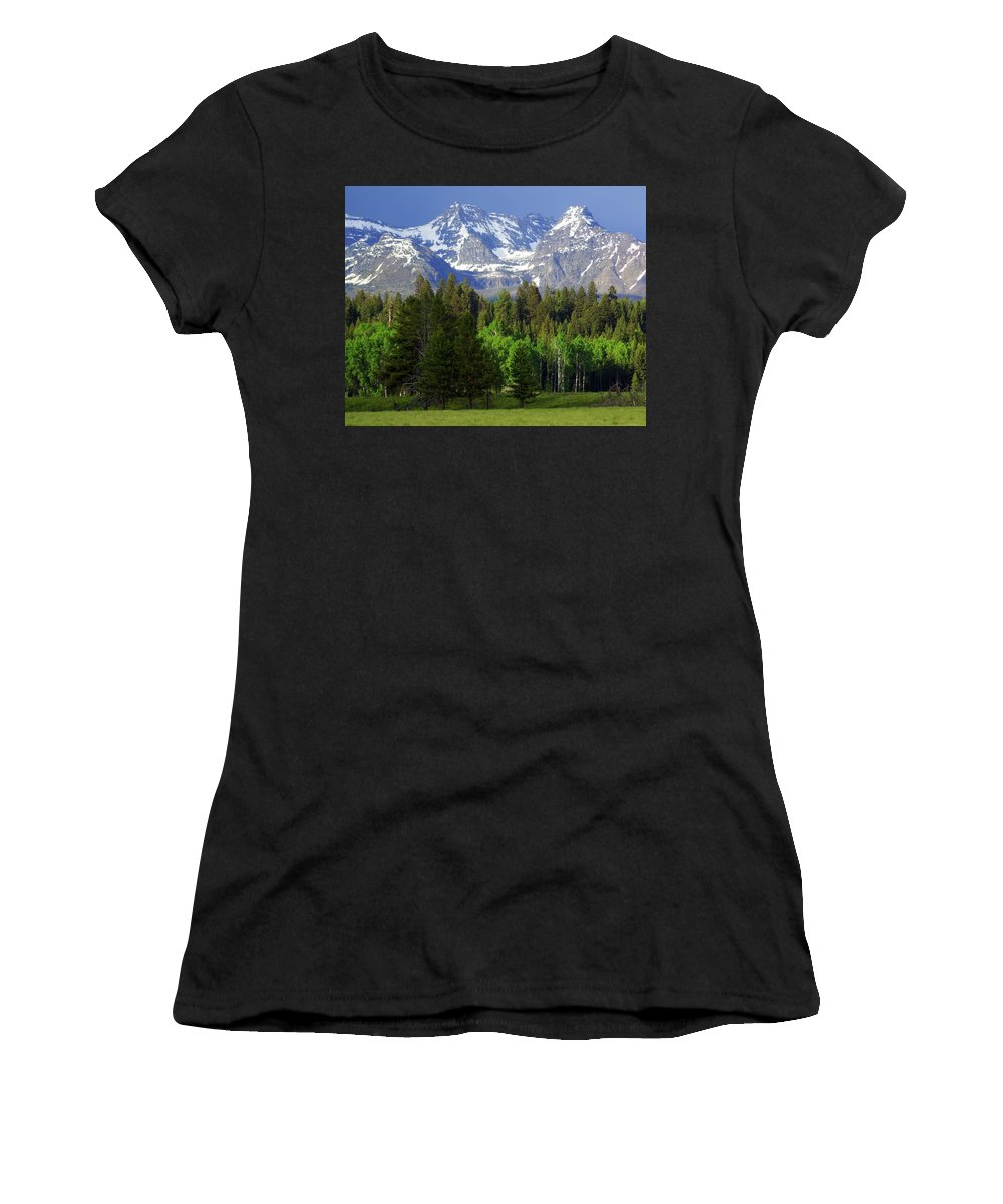 Mountains Women's T-Shirt (Athletic Fit) featuring the photograph Peaks by Marty Koch