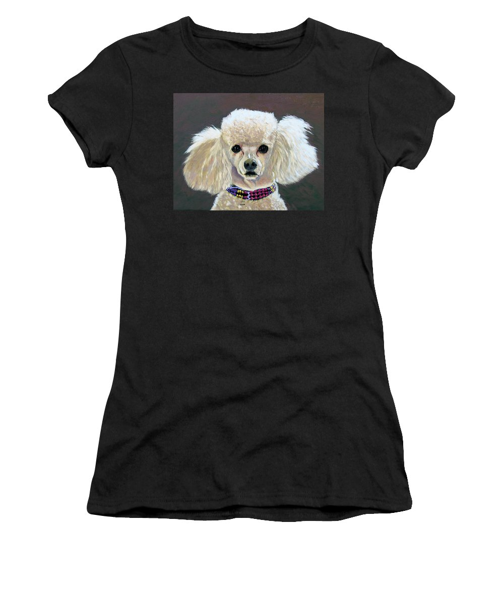 Dog Women's T-Shirt (Athletic Fit) featuring the painting Pebbles by Stan Hamilton