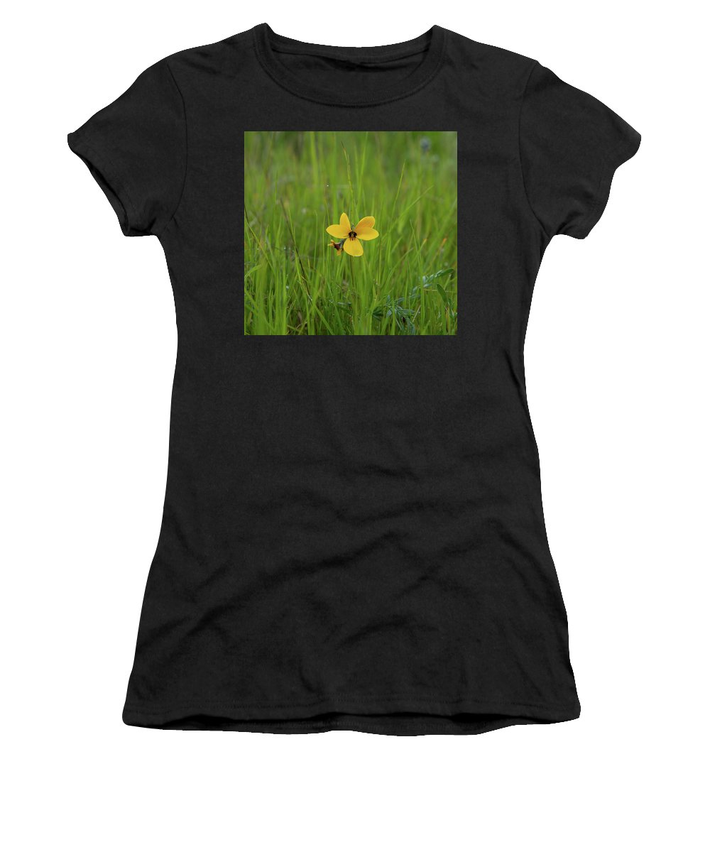 Table Mountain Women's T-Shirt (Athletic Fit) featuring the photograph Peeking Out by Barbara Matthews
