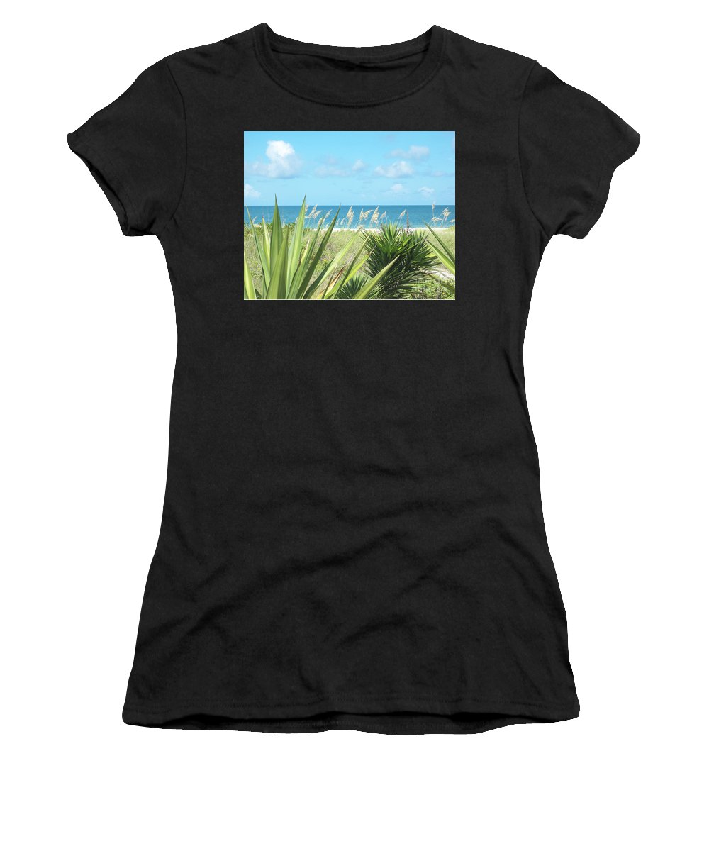Florida Women's T-Shirt (Athletic Fit) featuring the photograph Peeking Sea by Chris Andruskiewicz