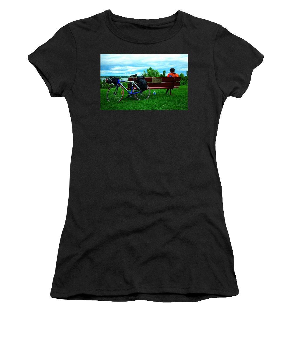 Outdoor Women's T-Shirt (Athletic Fit) featuring the photograph Peinture Fraiche ... by Juergen Weiss