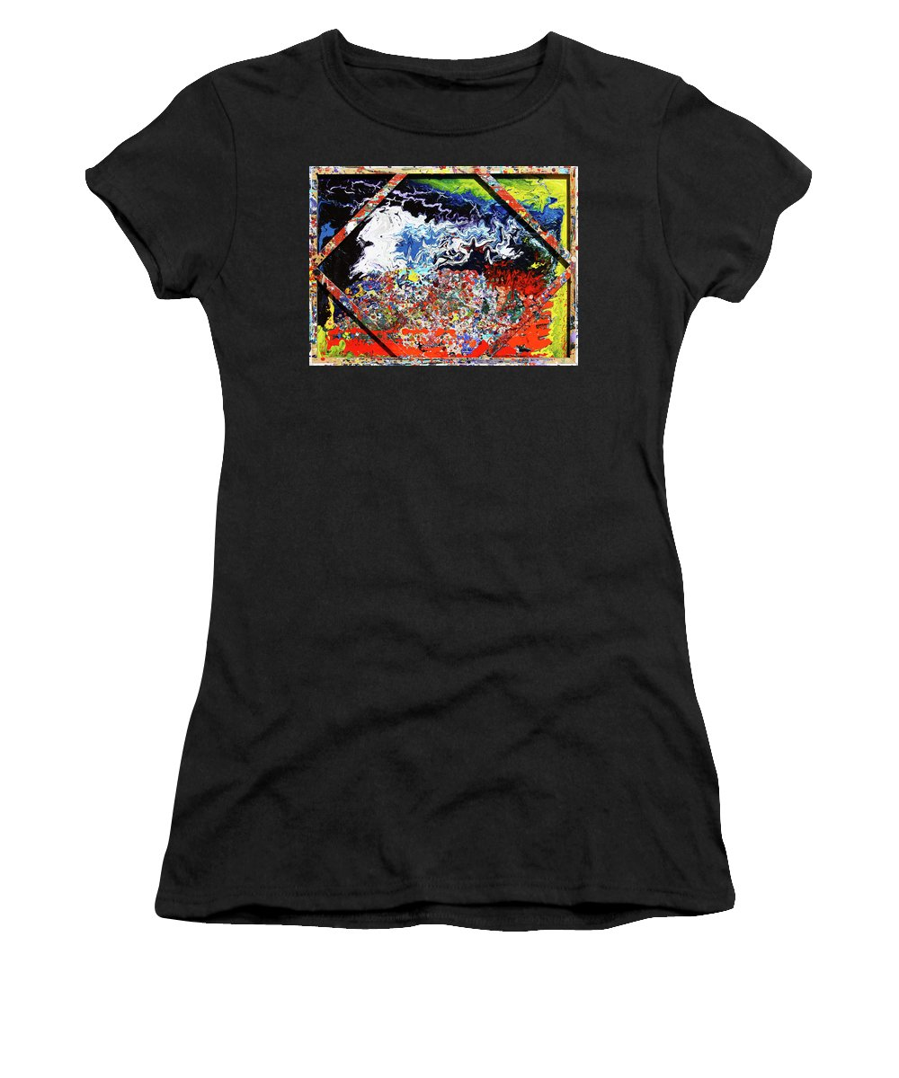 Fusionart Women's T-Shirt (Athletic Fit) featuring the painting Perspective by Ralph White