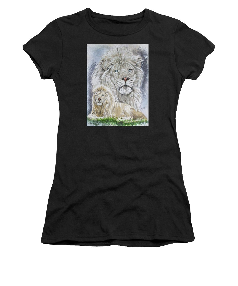 Art Women's T-Shirt (Athletic Fit) featuring the mixed media Phantasy by Barbara Keith
