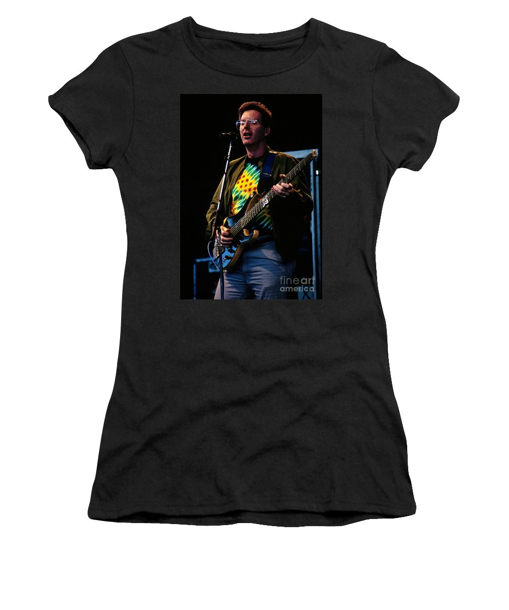 Phil Lesh Women's T-Shirt (Athletic Fit) featuring the photograph Phil Lesh Grateful Dead Alpine Valley 1987 by Ray Manning