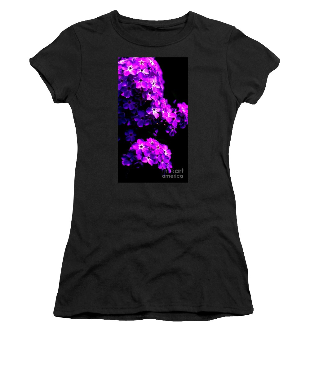Digital Photograph Women's T-Shirt (Athletic Fit) featuring the photograph Phlox 1 by David Lane