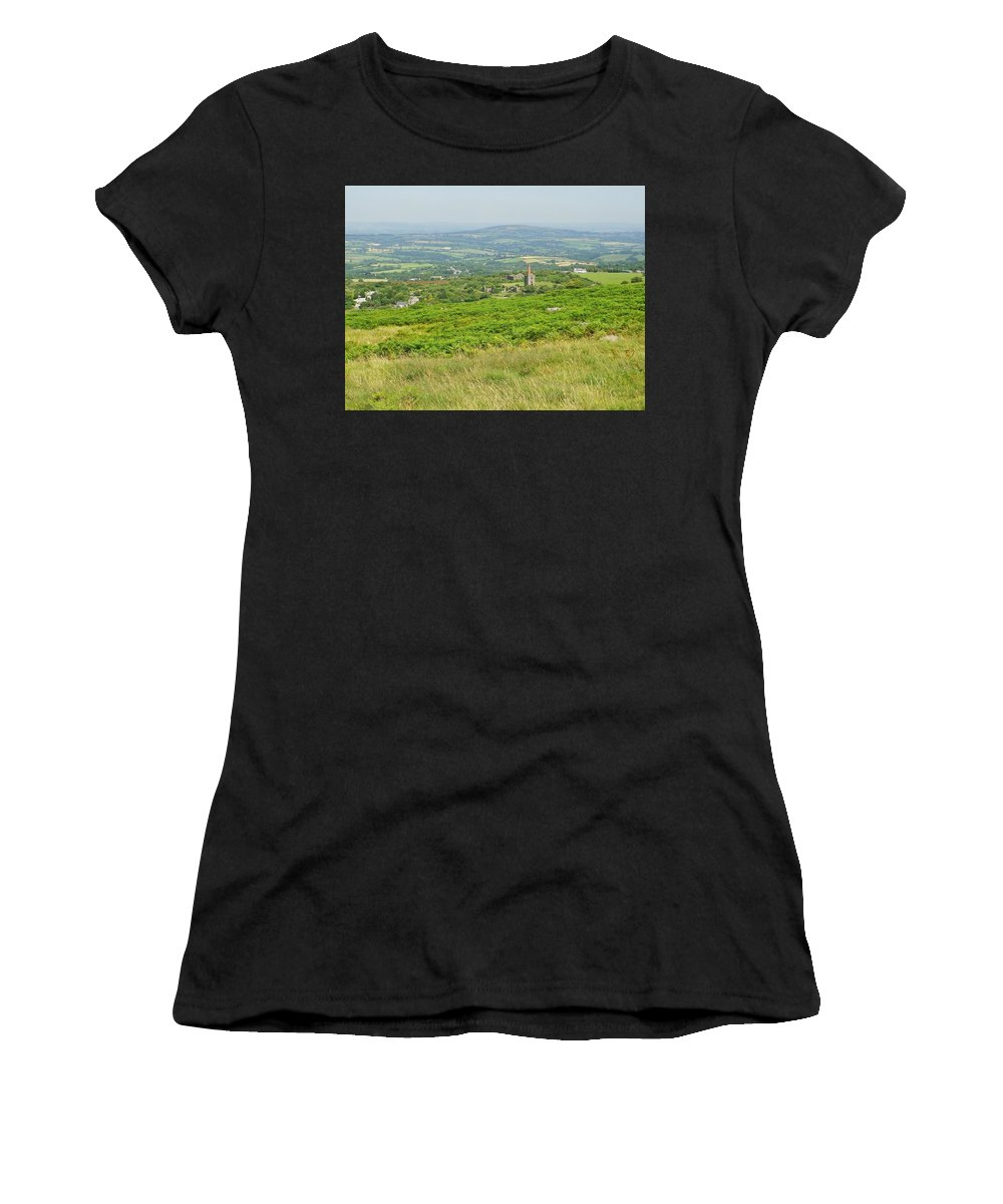 Copper Women's T-Shirt (Athletic Fit) featuring the photograph Phoenix United Mine Ruins On Bodmin Moor by Richard Brookes