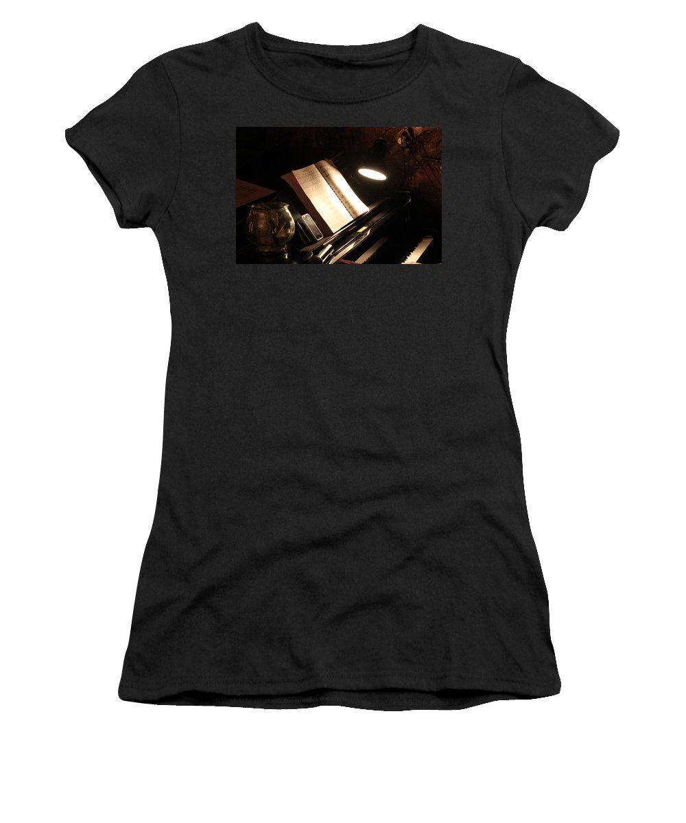 Piano Women's T-Shirt (Athletic Fit) featuring the photograph Piano Bar by Lauri Novak