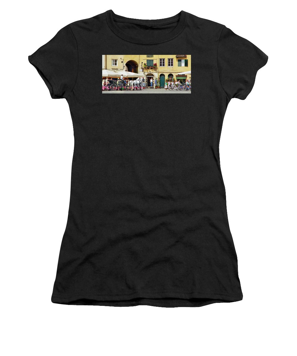 Piazza Women's T-Shirt featuring the photograph Piazza Anfiteatro by Keith Armstrong