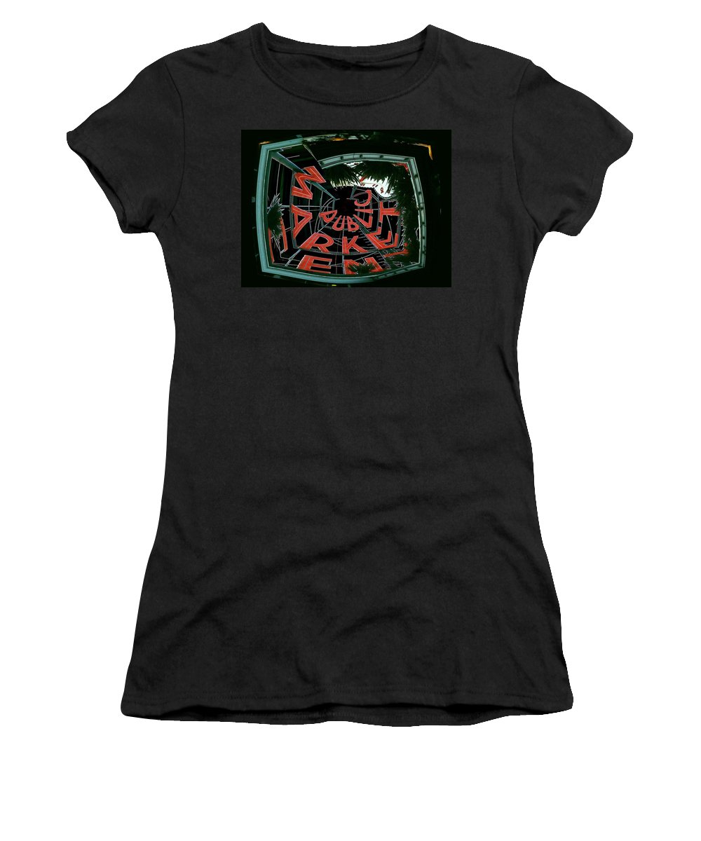 Seattle Women's T-Shirt (Athletic Fit) featuring the digital art Pike Place Market Entrance 2 by Tim Allen