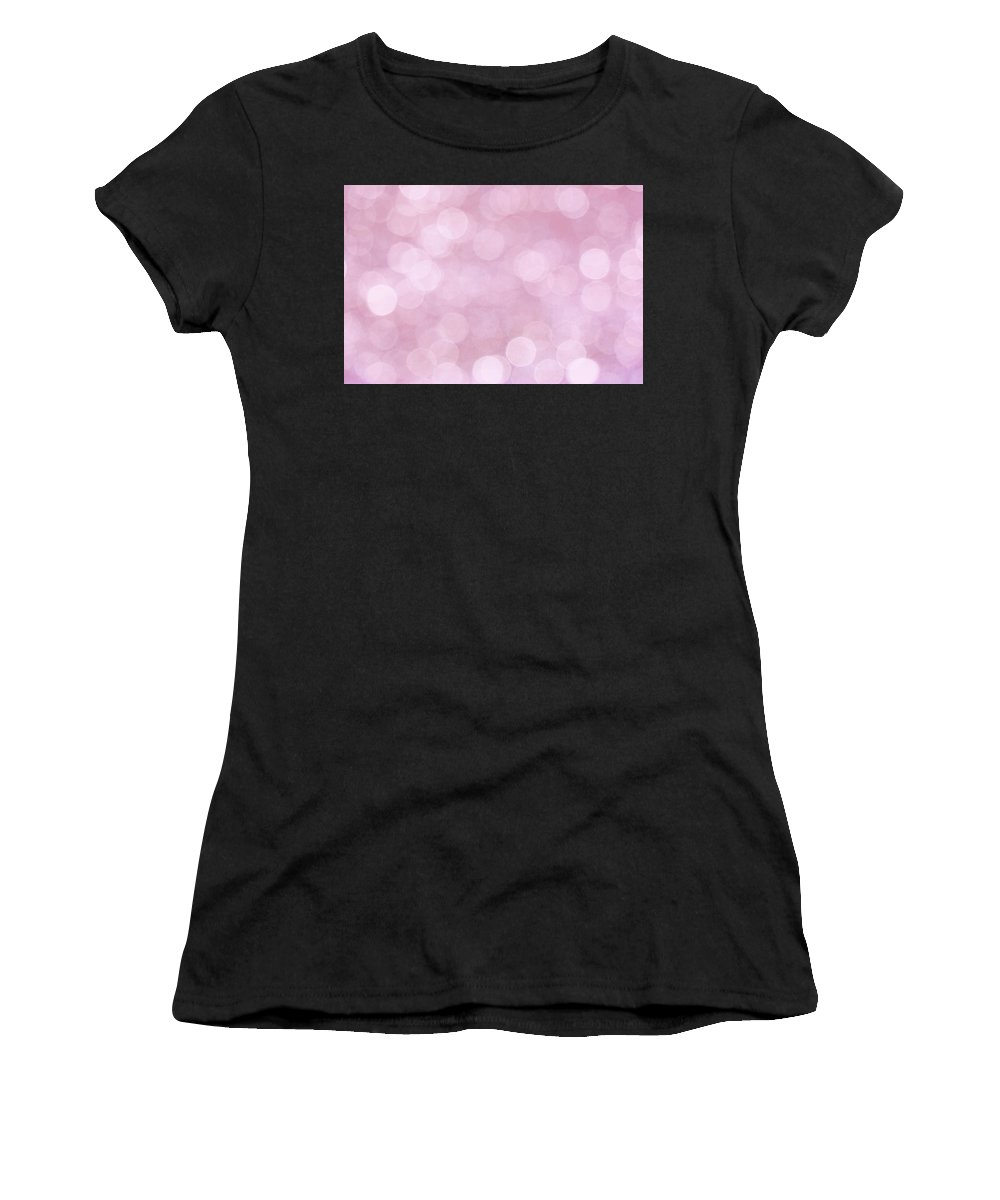 Pink Women's T-Shirt (Athletic Fit) featuring the photograph Pink Abstract Bokeh by Peggy Collins