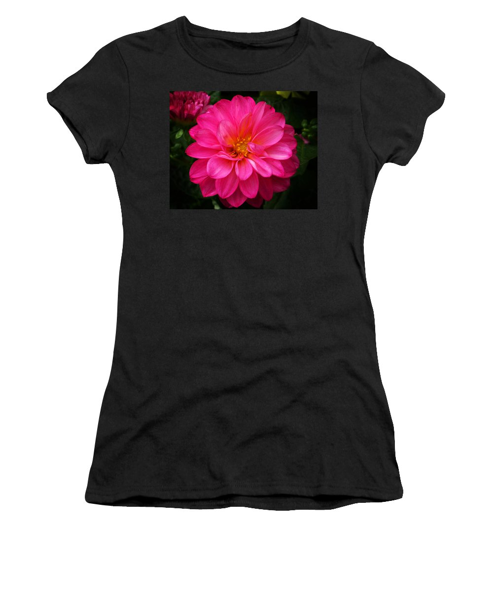 Flower Women's T-Shirt (Athletic Fit) featuring the photograph Pink Flower by Anthony Jones