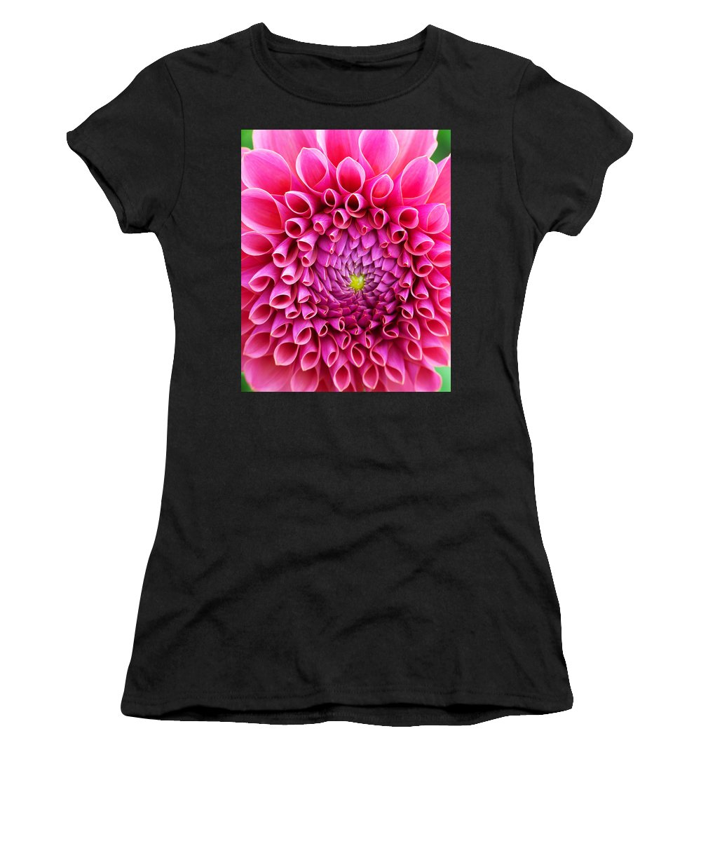 Flower Women's T-Shirt (Athletic Fit) featuring the photograph Pink Flower Close Up by Anthony Jones