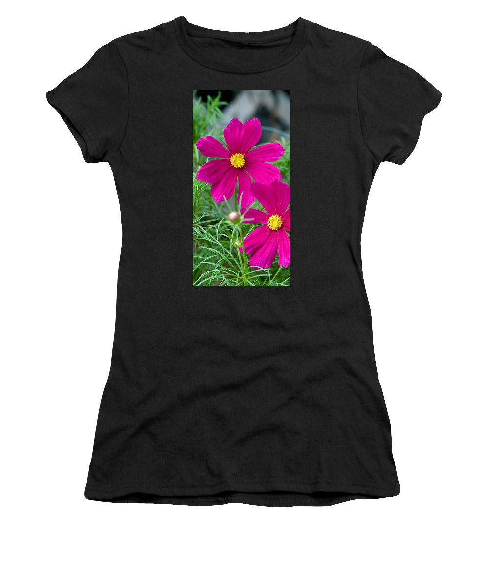 Pink Women's T-Shirt (Athletic Fit) featuring the photograph Pink Flower by Michael Bessler