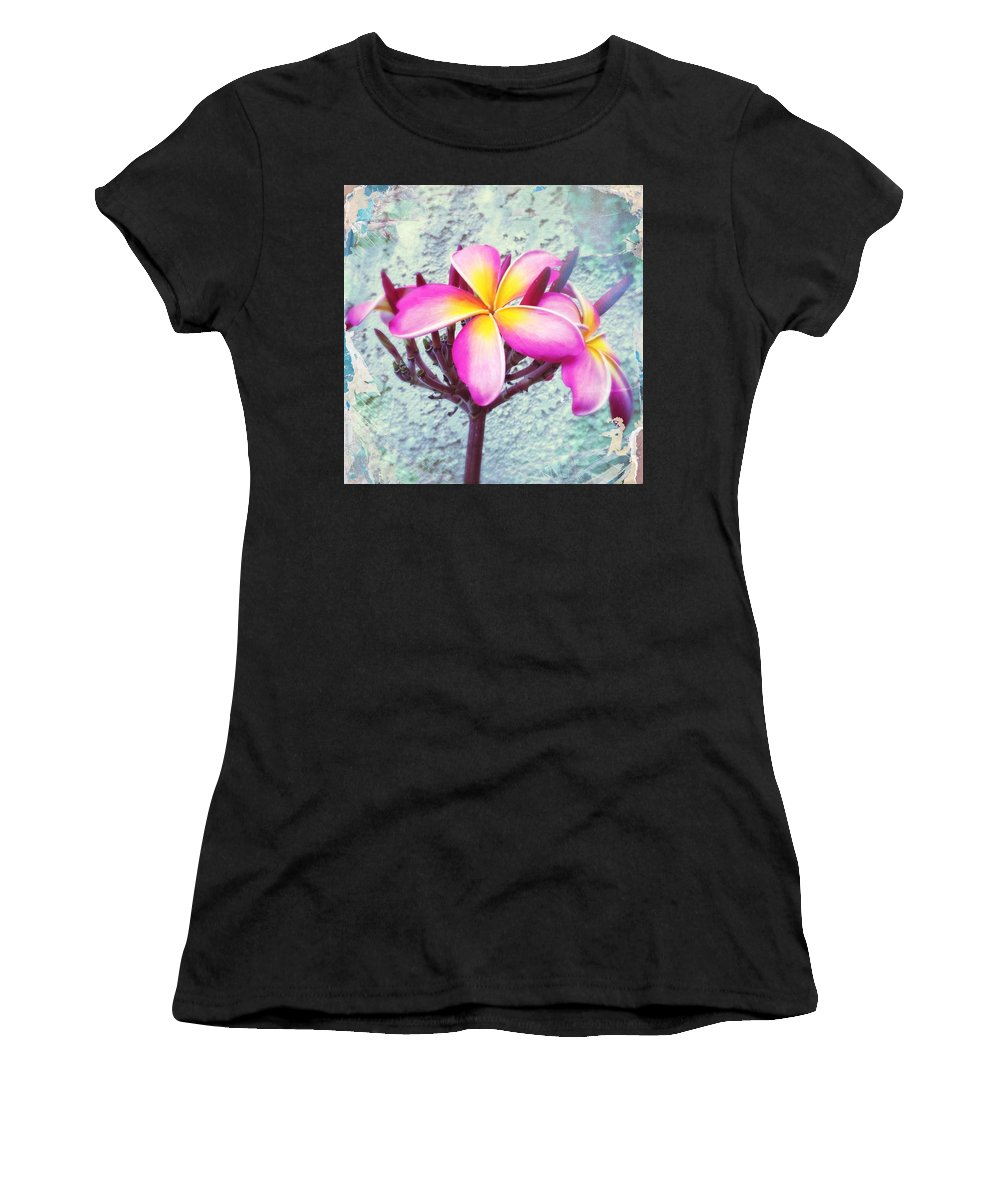 Floral Women's T-Shirt (Athletic Fit) featuring the photograph Pink by Judith Kitzes