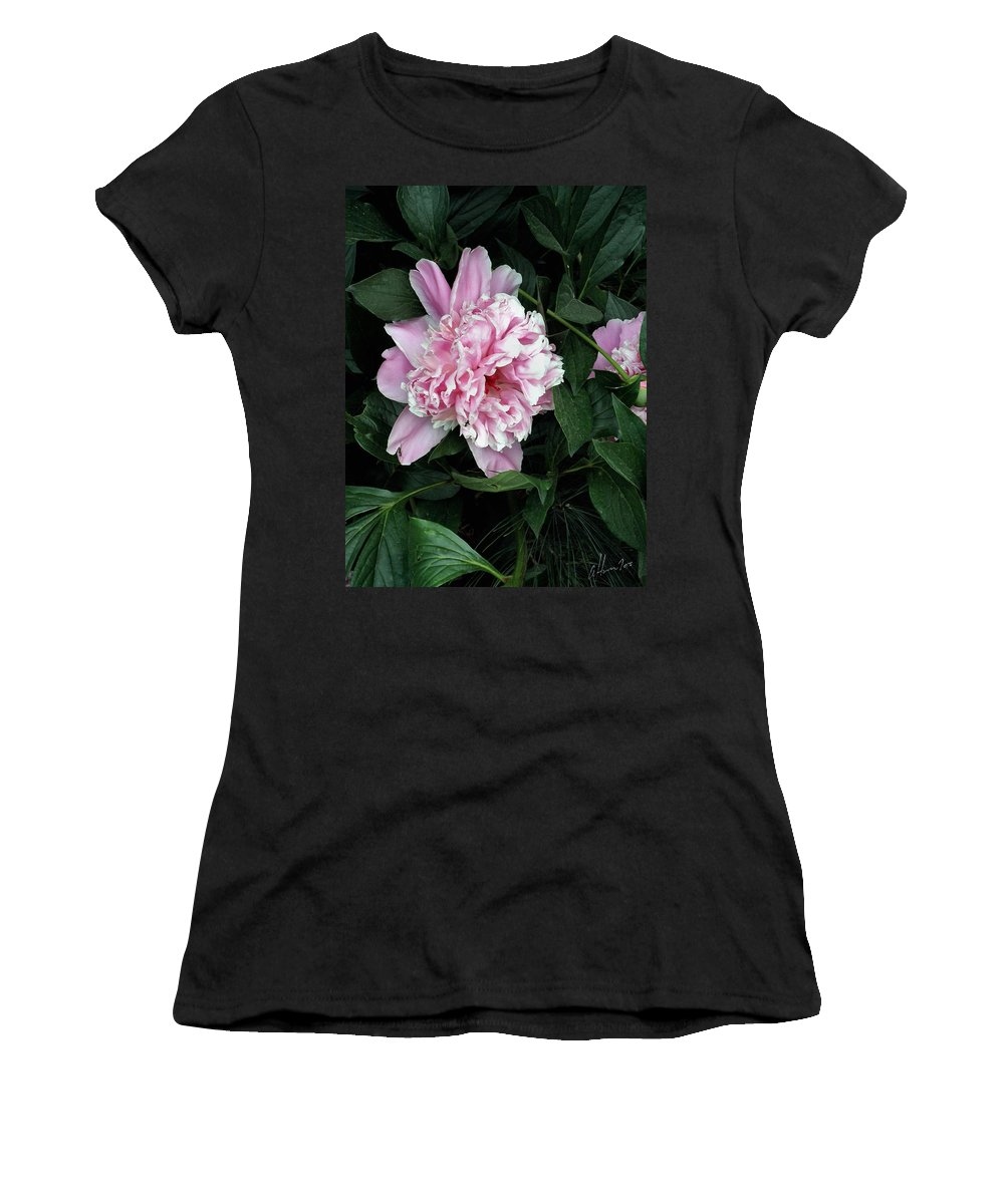 Peony Women's T-Shirt (Athletic Fit) featuring the photograph Pink Peone by T Cook