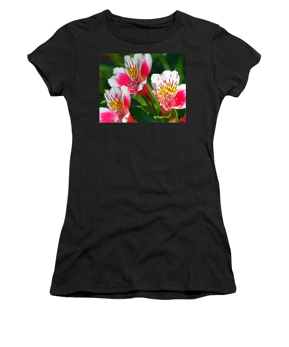Peruvian Women's T-Shirt featuring the photograph Pink Peruvian Lily 2 by Amy Fose