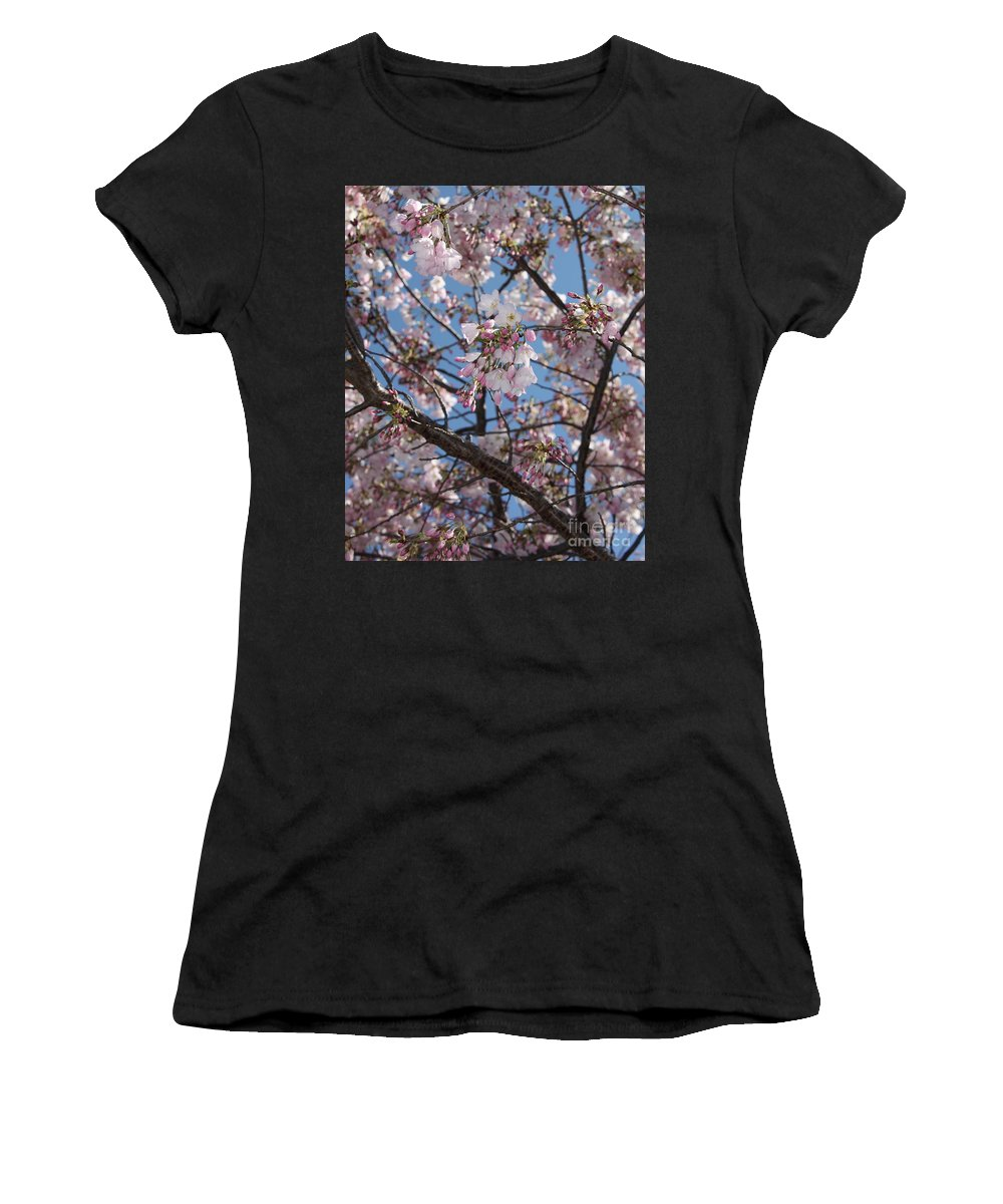 Spring Women's T-Shirt (Athletic Fit) featuring the photograph Pink Spring Blossoms by Carol Groenen