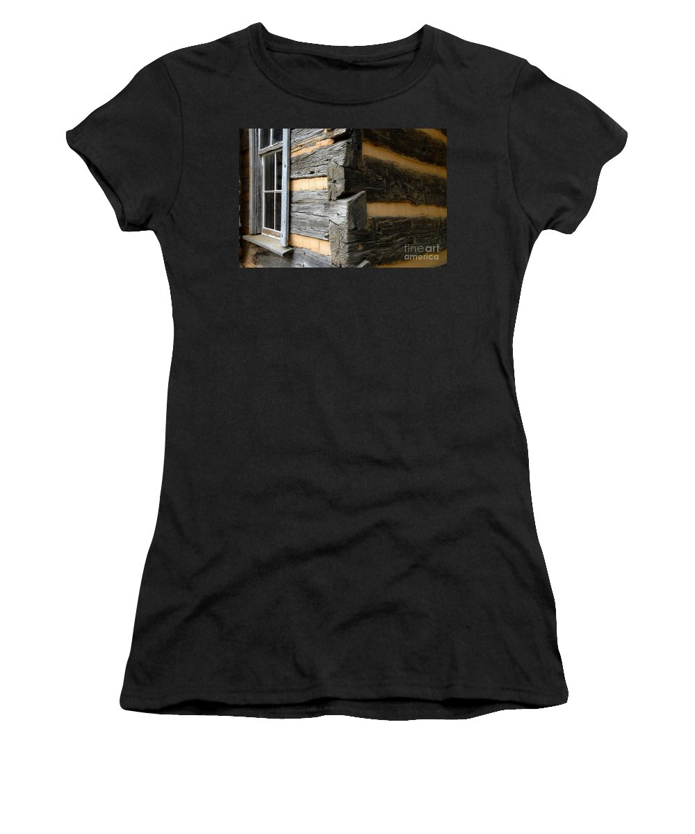 Cabin Women's T-Shirt (Athletic Fit) featuring the photograph Pioneer Craftsmanship by David Lee Thompson
