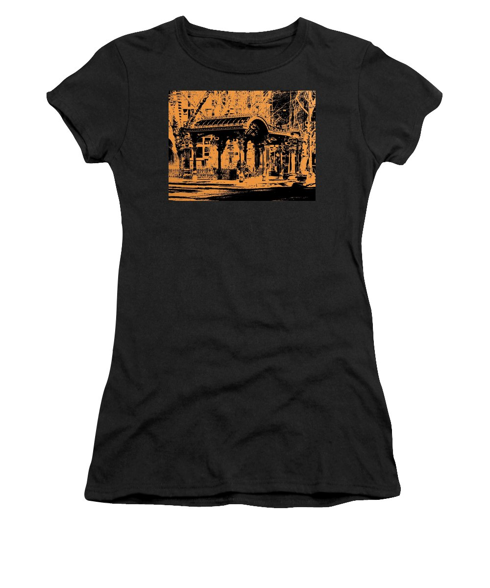 Seattle Women's T-Shirt (Athletic Fit) featuring the digital art Pioneer Square Pergola by Tim Allen