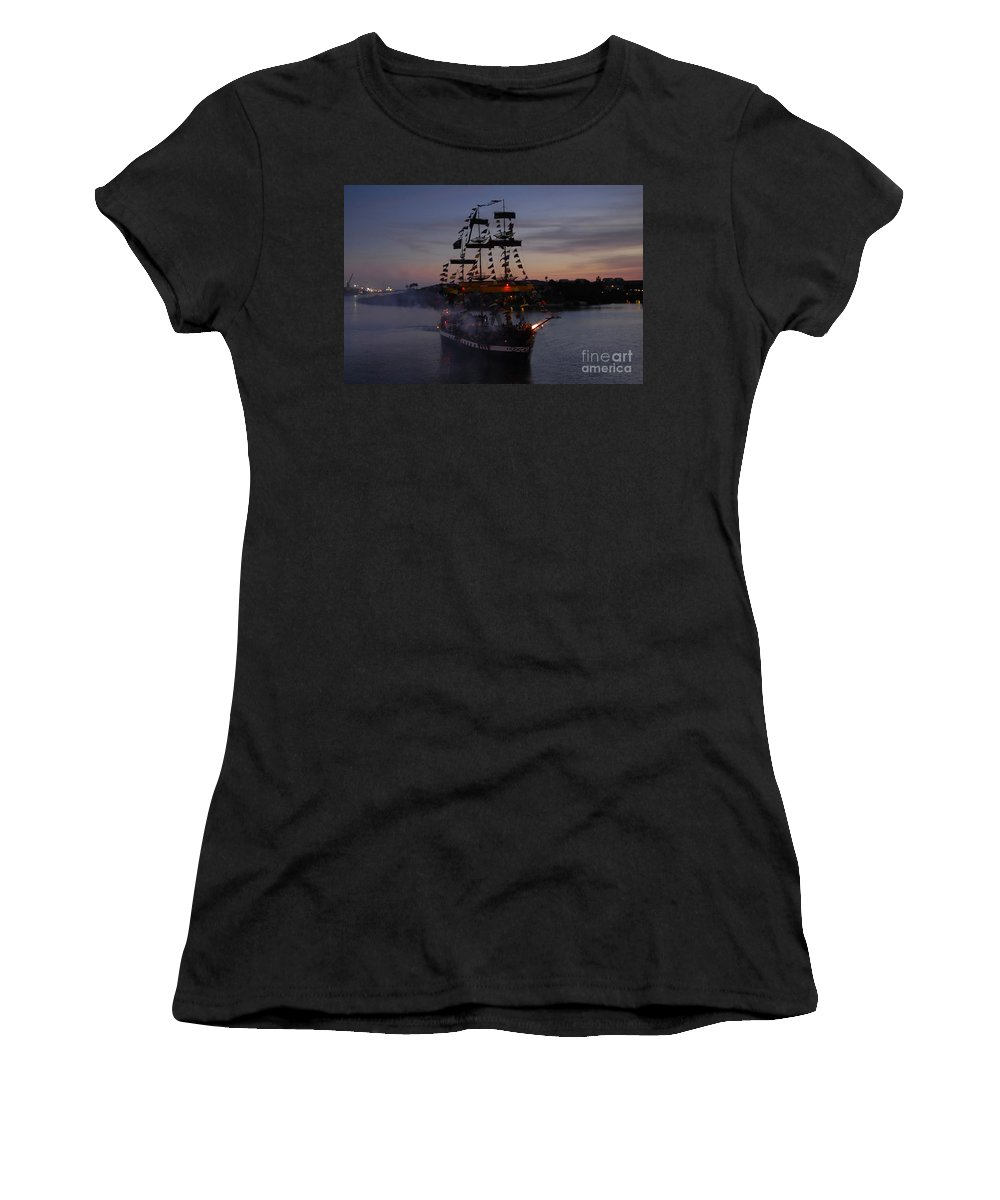 Pirates Women's T-Shirt (Athletic Fit) featuring the photograph Pirate Invasion by David Lee Thompson
