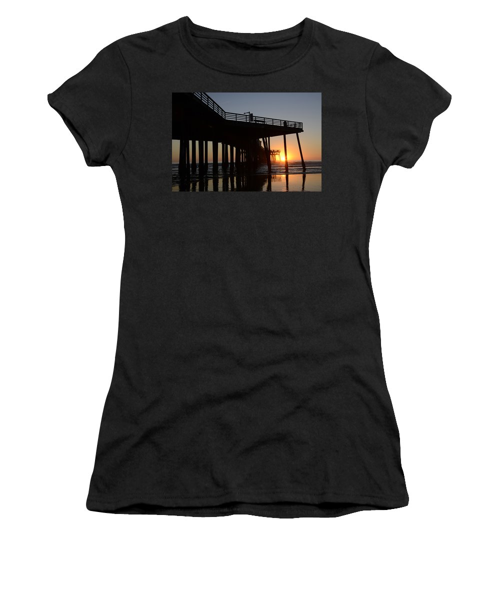 Pismo Women's T-Shirt featuring the photograph Pismo Beach Pier California 2 by Bob Christopher