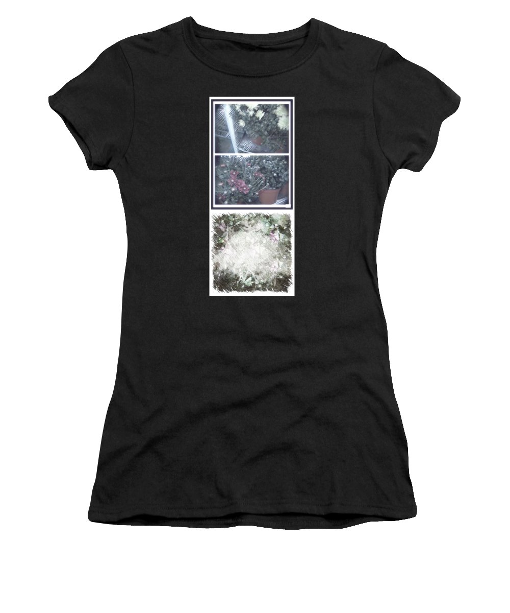Abstract Women's T-Shirt featuring the photograph Plant Life by Alwyn Glasgow
