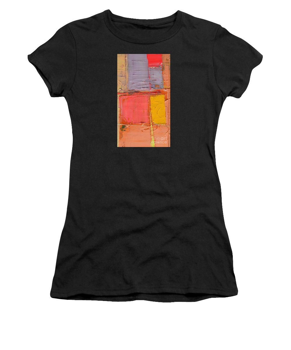 Abstract Women's T-Shirt featuring the painting Play by Ana Maria Edulescu