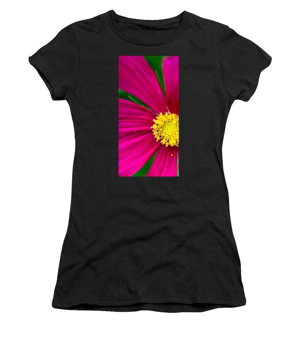 Plink Women's T-Shirt (Athletic Fit) featuring the photograph Plink Flower Closeup by Michael Bessler