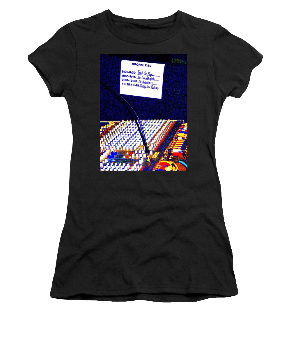Still Life Women's T-Shirt (Athletic Fit) featuring the photograph Plugged In by Ed Smith