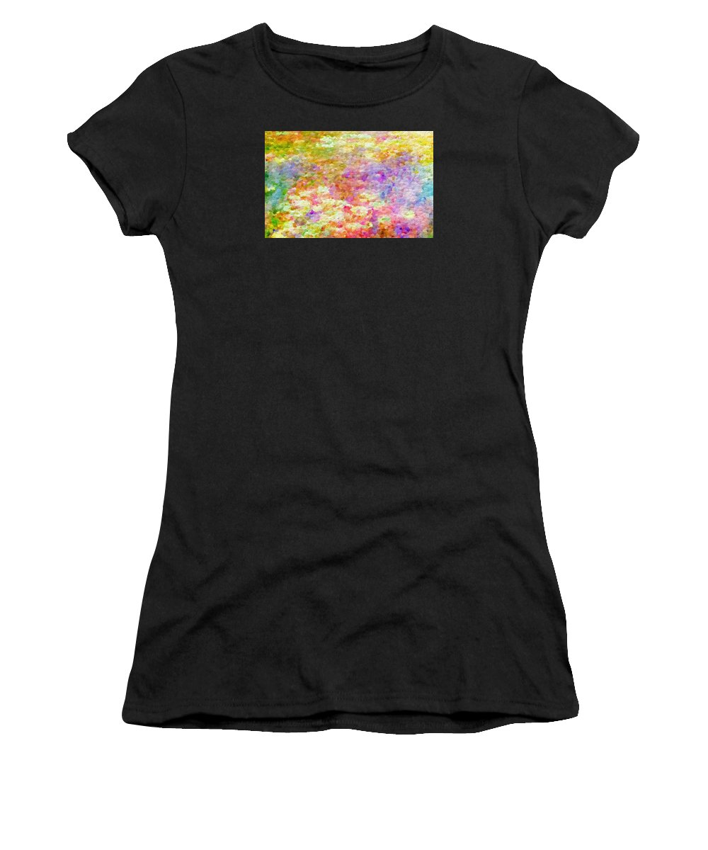 Abstract Women's T-Shirt (Athletic Fit) featuring the photograph Pointillist Colour by Rita Koivunen