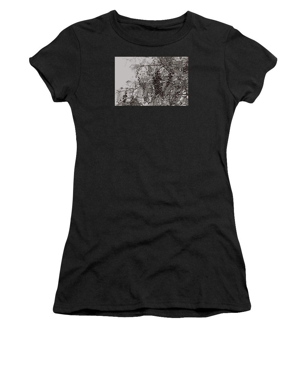 Pokeweed Women's T-Shirt featuring the photograph Pokeweed by Linda Shafer