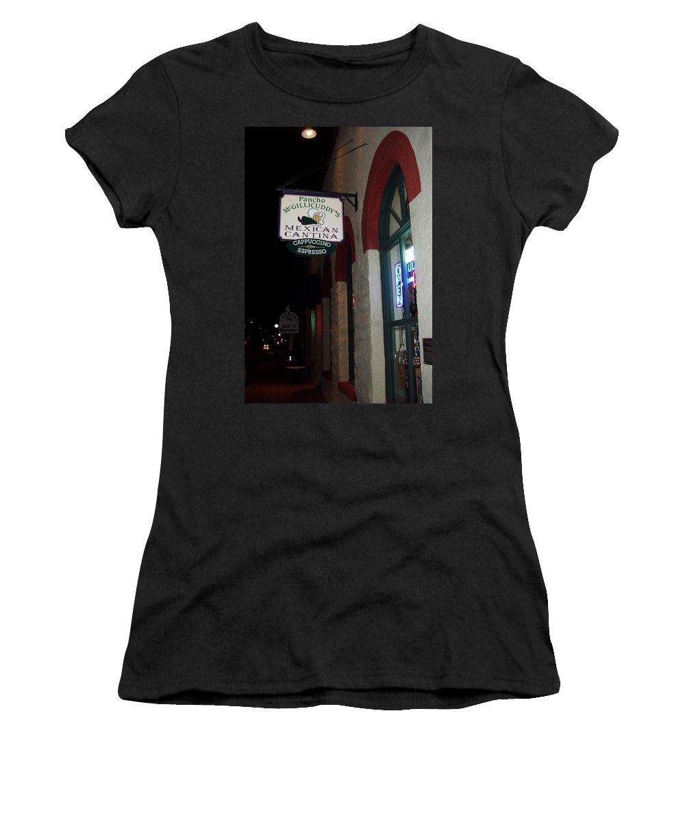 Restaurant Women's T-Shirt featuring the photograph Poncho Mcgillicuddys by Wayne Potrafka