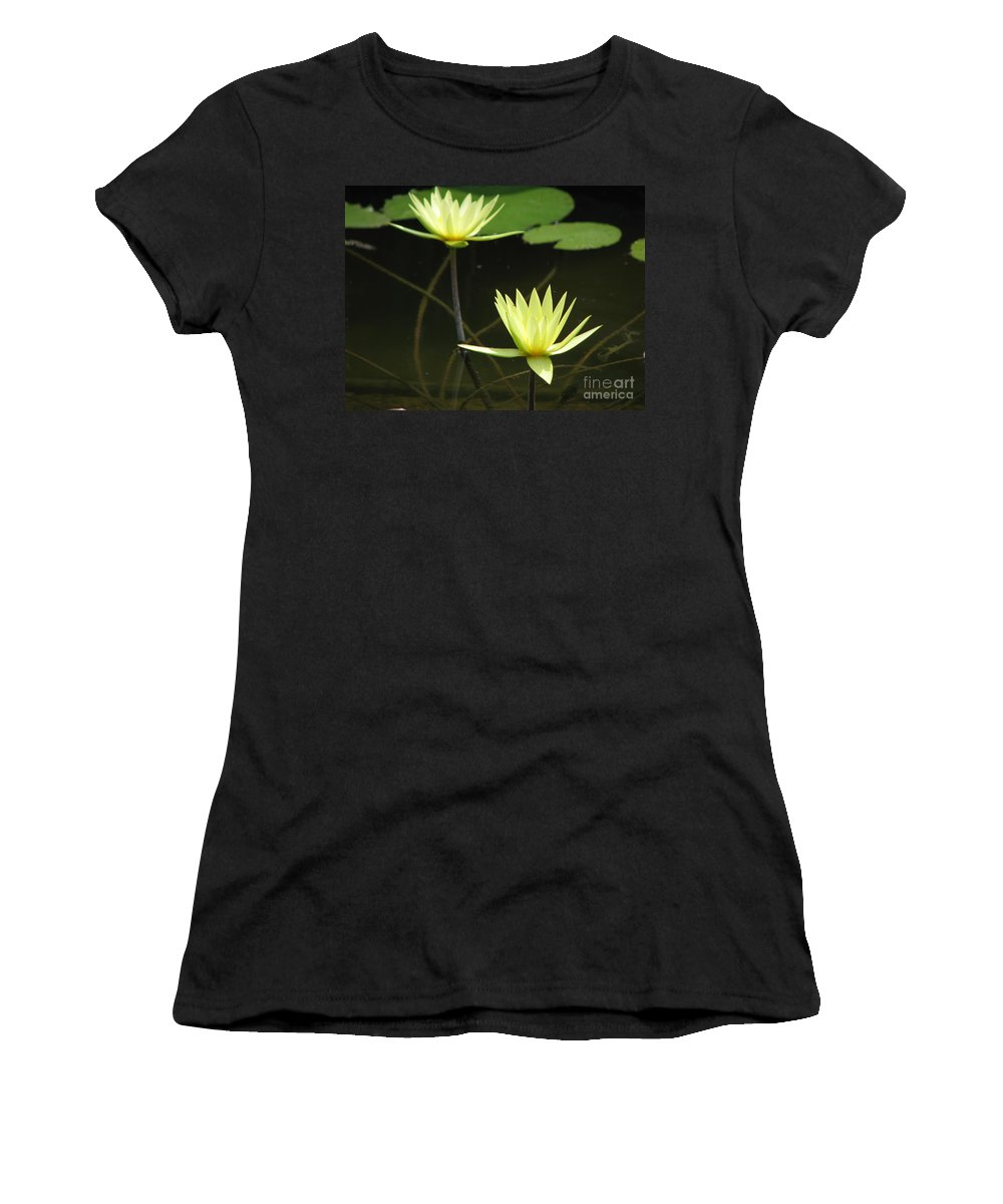 Pond Women's T-Shirt (Athletic Fit) featuring the photograph Pond by Amanda Barcon