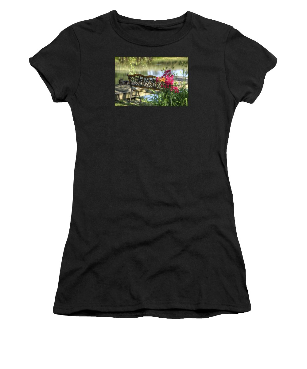 Pond Women's T-Shirt (Athletic Fit) featuring the photograph Pond Dreams 11 by Sam Davis Johnson