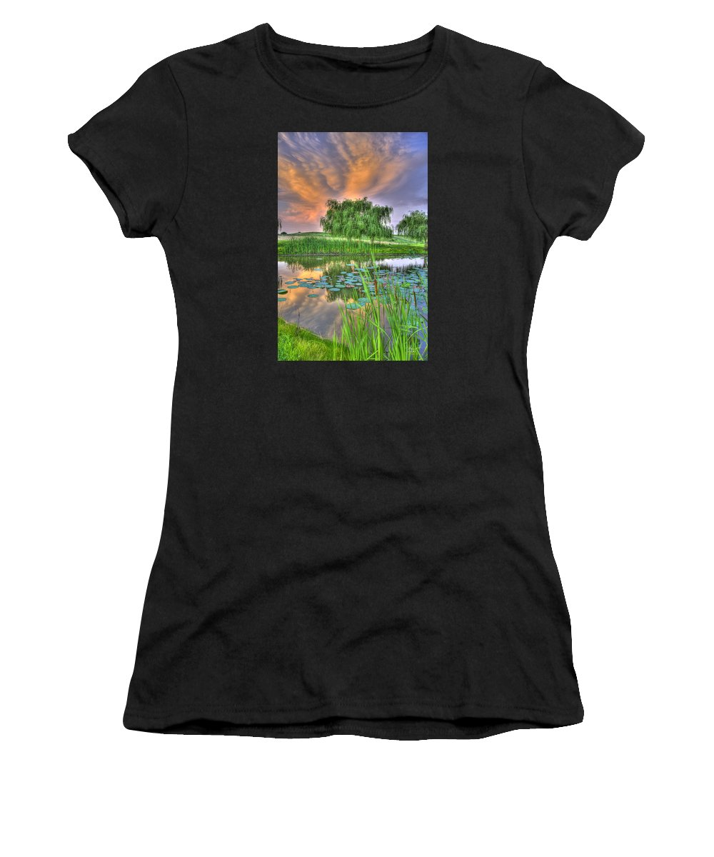 Pond Women's T-Shirt (Athletic Fit) featuring the photograph Pond Dreams 4 by Sam Davis Johnson