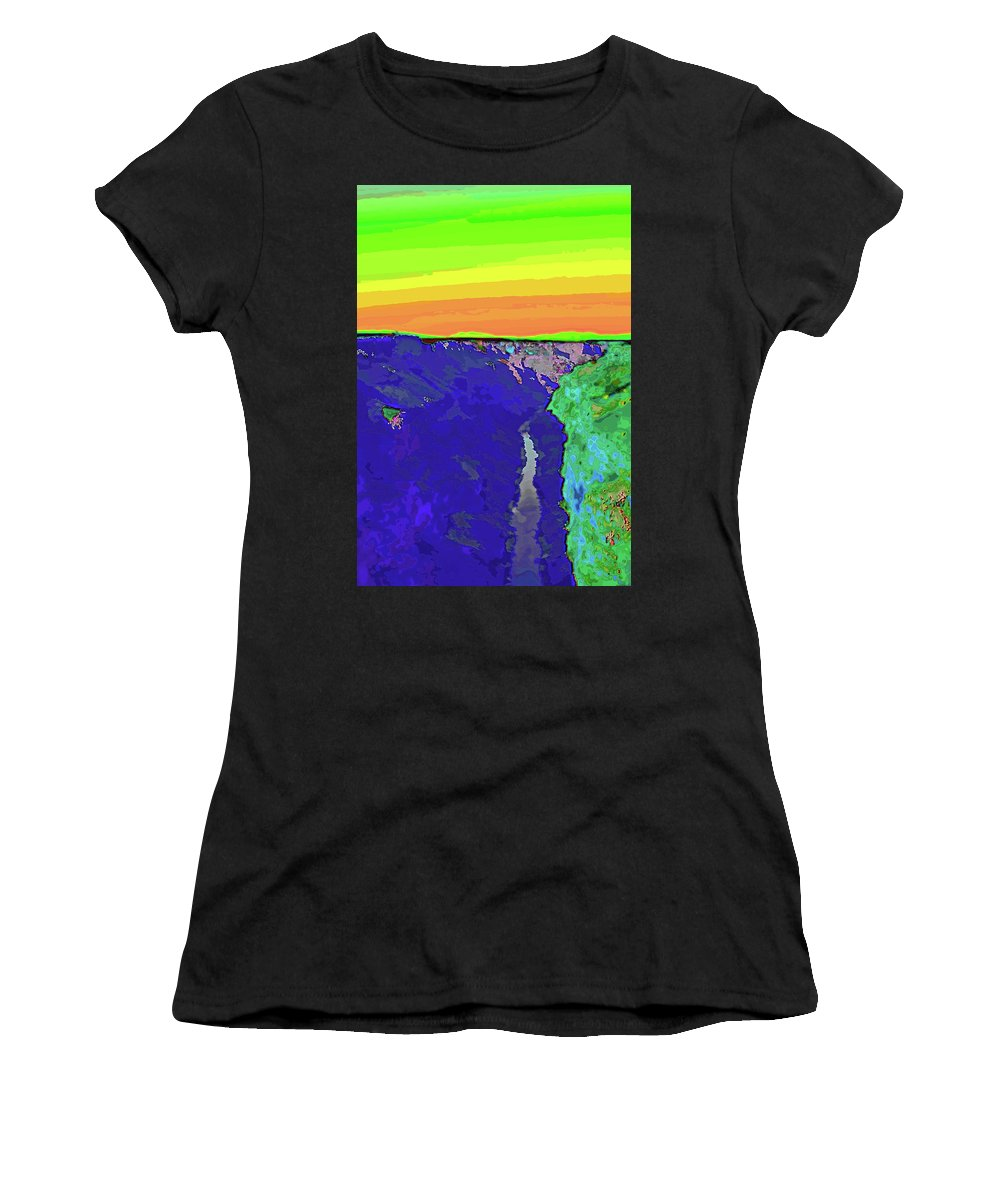 Santa Women's T-Shirt featuring the digital art Pop Gorge by Charles Muhle