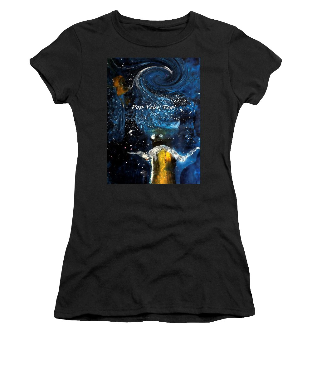 Pop Women's T-Shirt (Athletic Fit) featuring the digital art Pop Your Top By Lisa Kaiser by Lisa Kaiser