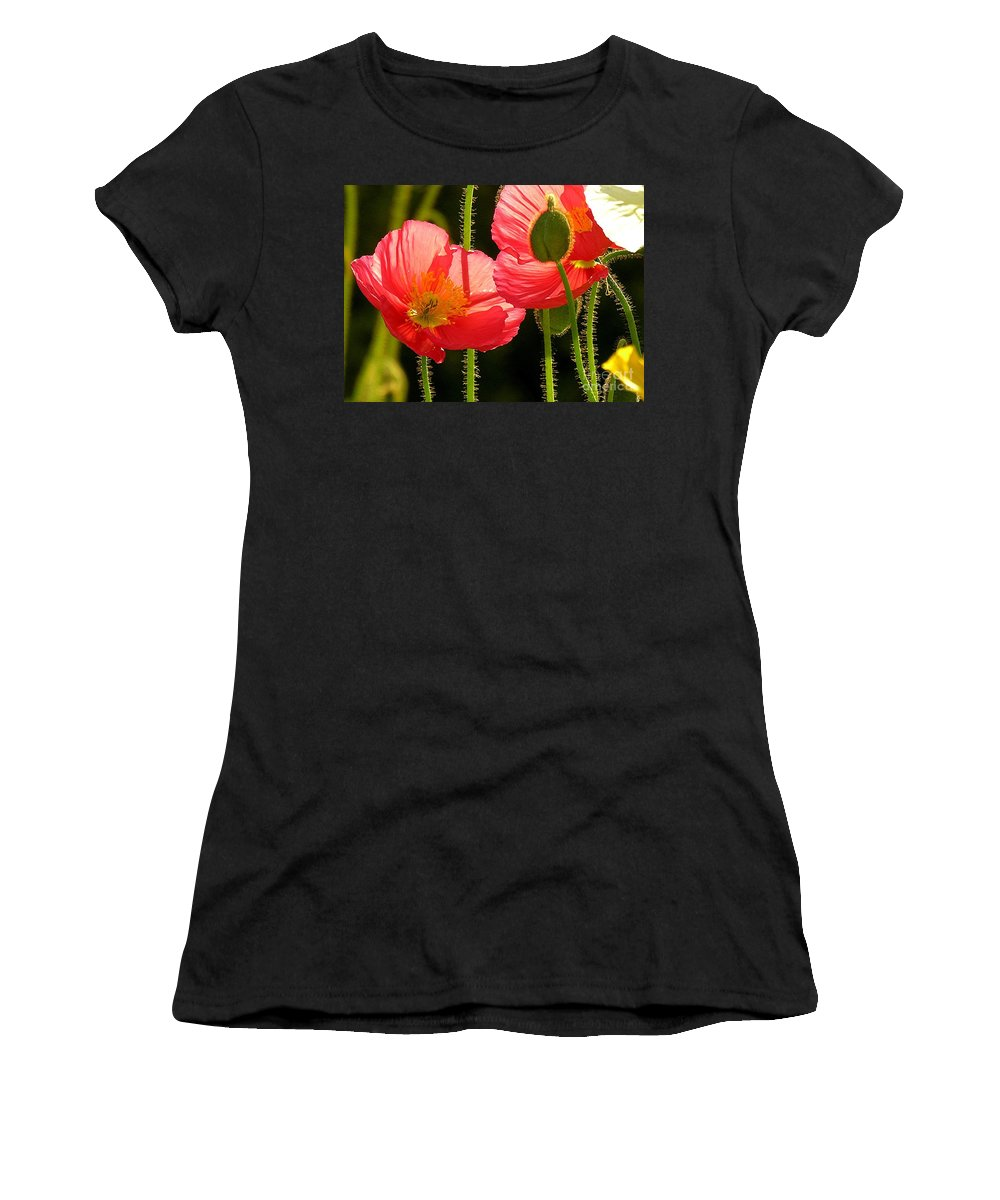 Poppy Women's T-Shirt (Athletic Fit) featuring the photograph Poppy by Diane Greco-Lesser