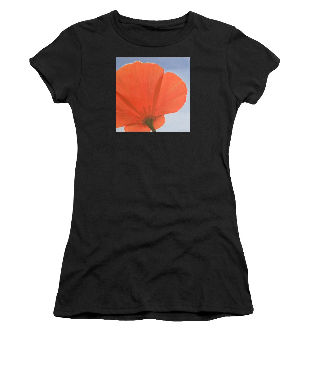 Flower Women's T-Shirt (Athletic Fit) featuring the painting Poppy by Rob De Vries