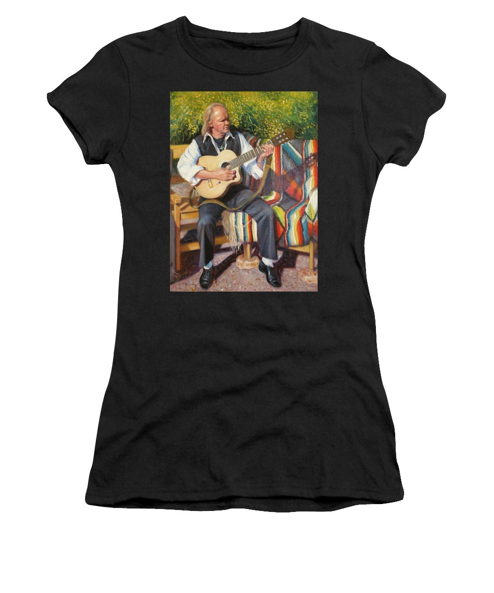 Realism Women's T-Shirt (Athletic Fit) featuring the painting Por Tu Amor by Donelli DiMaria