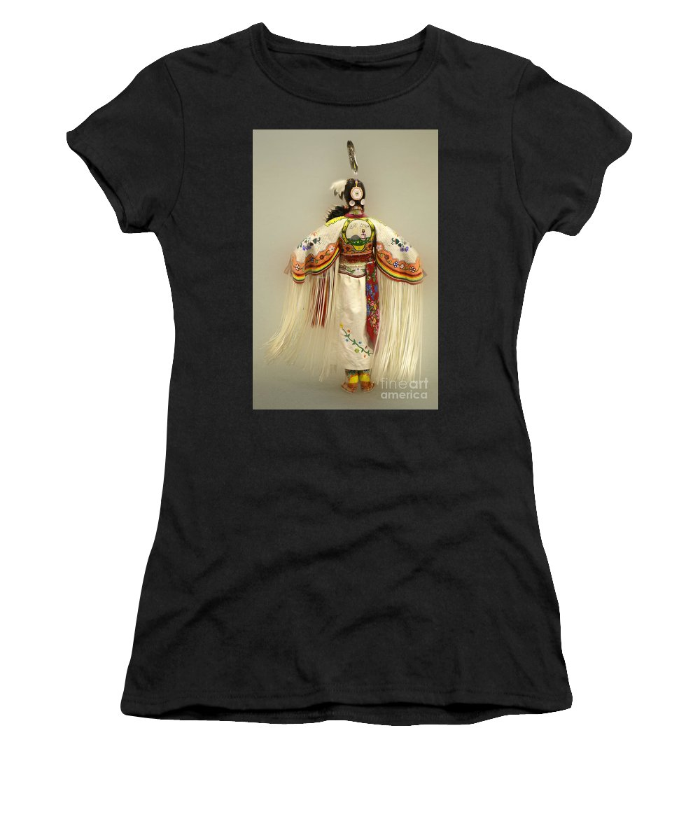 Pow Wow Women's T-Shirt featuring the photograph Pow Wow Traditional Dancer 3 by Bob Christopher